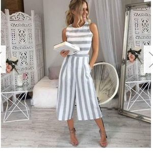 Pants - Gray and White Pants Jumpsuit
